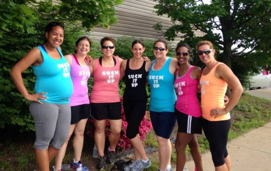 Awesome group of ladies.  Nativa is due any day, but ran with me up until 25 weeks to get my mileage up!!