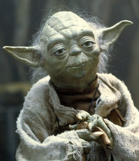 """You will know (the good from the bad) when you are calm, at peace. Passive. A Jedi uses the Force for knowledge and defense, never for attack."" - Master Yoda"