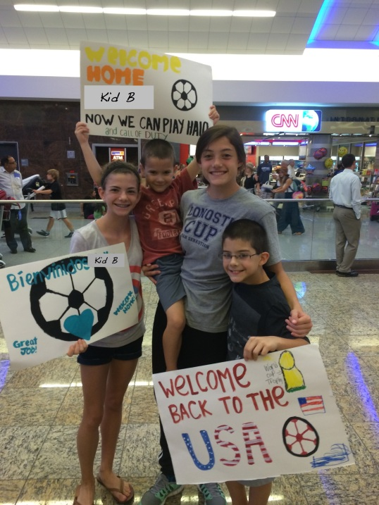 Kid B airport pickup