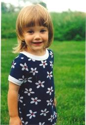 Ellie in blue dress 2