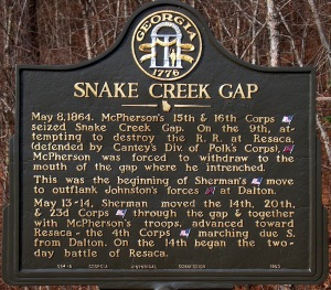 Snake Creek Gap Sign